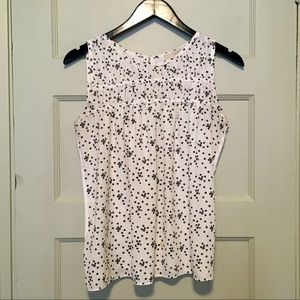 Loft sleeveless blouse. Excellent used condition.